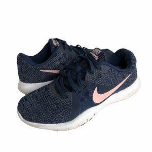Nike Womens Flex Training Shoes Blue Sneakers Sz 7